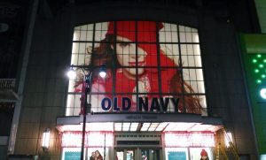 Old Navy Large Format Retail Window Signs