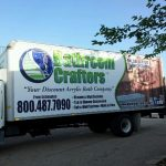 Bathroom Crafters Trailer Wrap