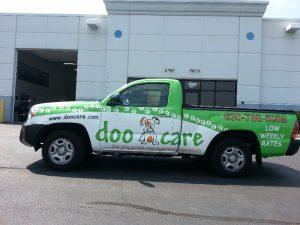 Doo Care Protective Custom Work Truck Wrap