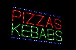 Pizzas Kebabs LED Sign
