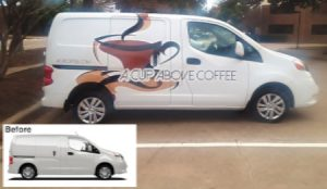 Before & After Van Wrap Application